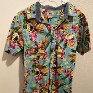 Vans Hawaiian button down shirt